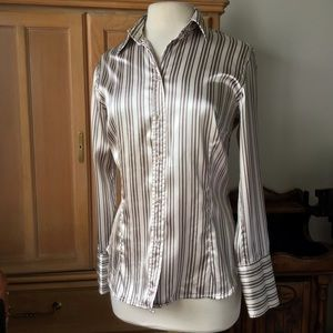 ZARA SILKY BUTTON FRONT  BLOUSE